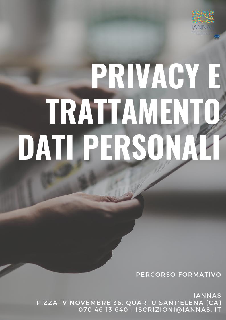 Privacy e trattamento dati personali